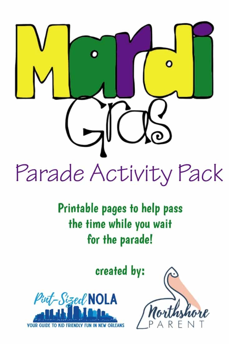 Mardi Gras Parade Activity Pack
