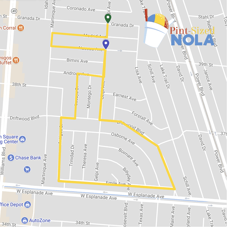 Driftwood Parade Map