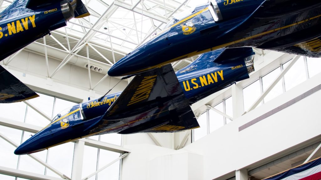 Navy Blue Angels at the Naval Museum at Pensacola NAS