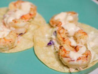 shrimp tacos on a plate