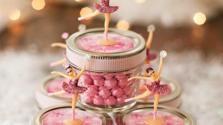 sugar plum fairy party favor jars