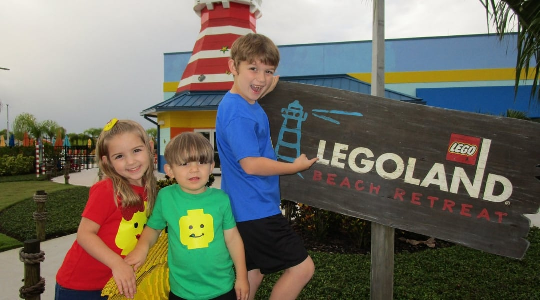 Kids at Legoland Florida