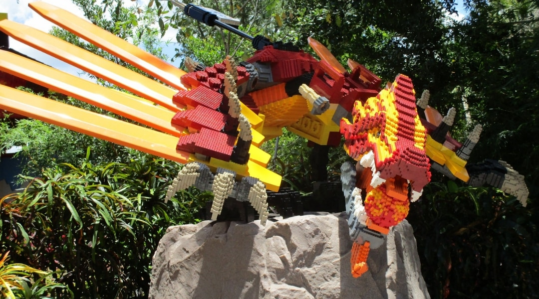 dragon at Legoland Florida