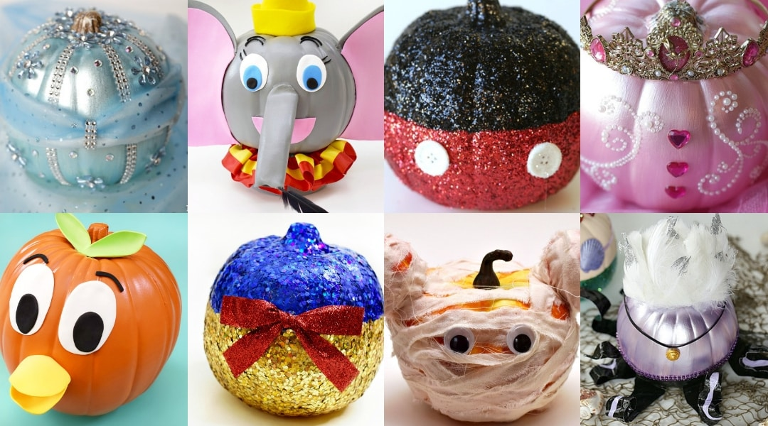 40+ Cute and Fun Disney Pumpkins Anyone Can Make