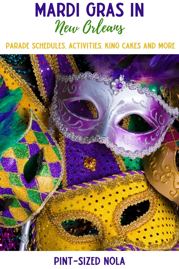 Mardi Gras In New Orleans: Everything you need for a great Carnival Season - king cakes, parade schedules, activities and more. Happy Mardi Gras.