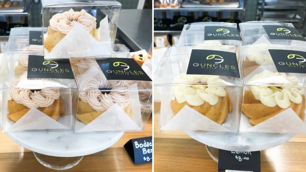 Berry and Lemon Gluten Free Cakes at Guncles