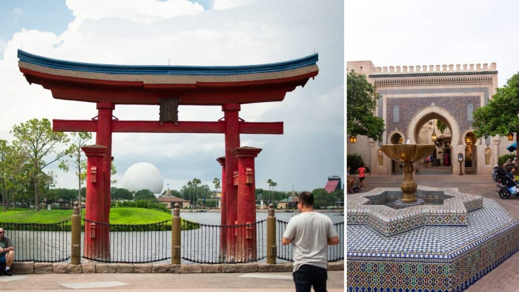 Japan and Morocco Epcot Disney World