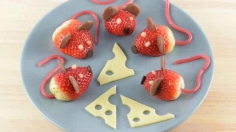 These strawberry mice make super cute party food fun food recipe and video tutorial from Eats Amazing UK